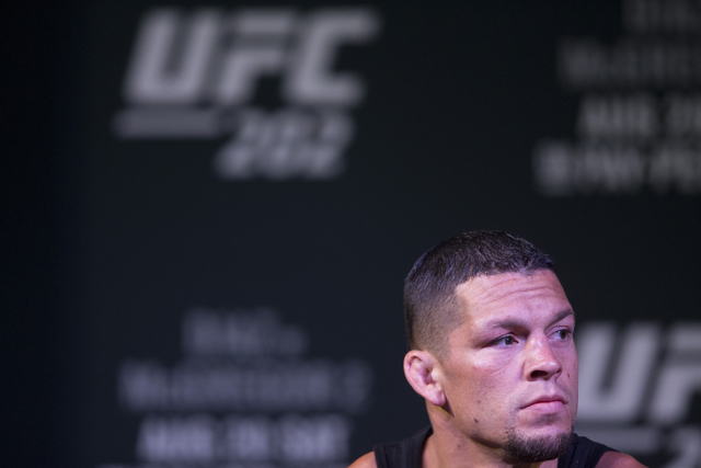 Nate Diaz attends the UFC 202 press conference at the MGM Grand hotel-casino on Wednesday, Aug. 17, 2016, in Las Vegas. Erik Verduzco/Las Vegas Review-Journal Follow @Erik_Verduzco