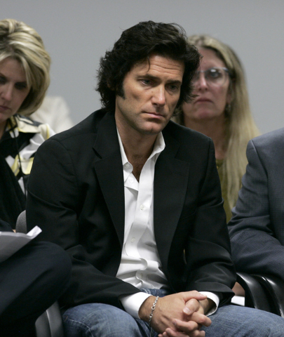 Anthony DiMaria, the nephew of Manson Family murder victim Jay Sebring, waits to appear before state parole officials in July 2008, to urge that they reject an appeal for compassionate release for ...
