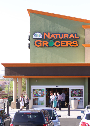 Natural Grocers at 6305 Simmons St. in North Las Vegas is shown on opening day Tuesday, Aug. 9, 2016. The Colorado-based grocery chain also opened a store at 1660 W. Sunset Road in Henderson on Tu ...