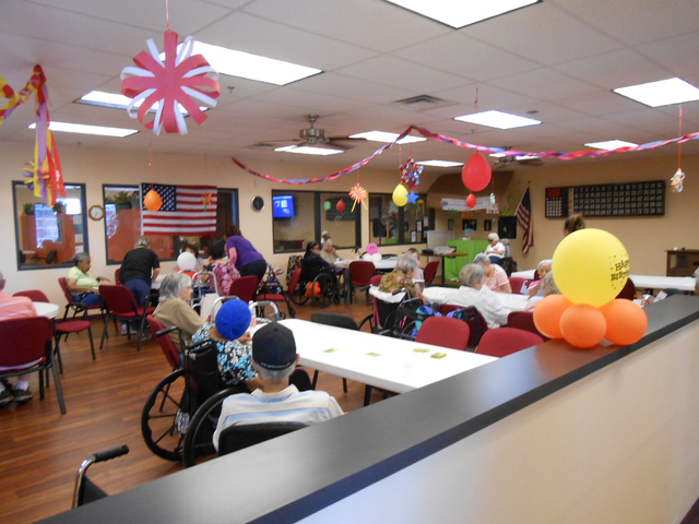Clients attend activities at Nevada Adult Day Healthcare Centers, 8695 S. Eastern Ave., on July 21. Linda J. Simpson/Special to View