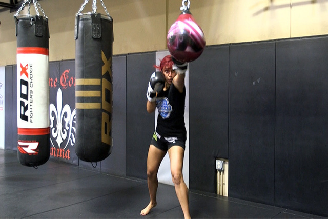 Nicdali is a fighter and a personality for Combate Americas. She loves that the promotion is dedicated to growing Latino MMA. (Heidi Fang/Las Vegas Review-Journal)