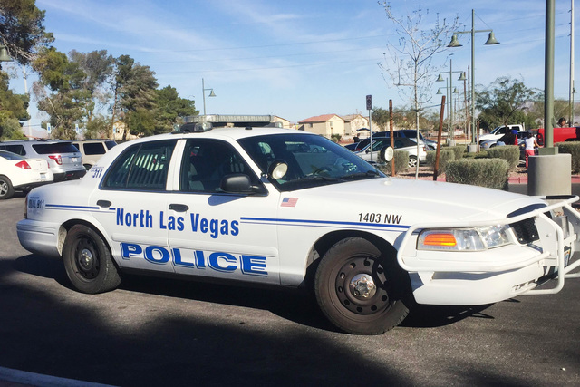 North Las Vegas police are investigating a body found in a car on the 3700 block of West Craig Road. (Las Vegas Review-Journal File)