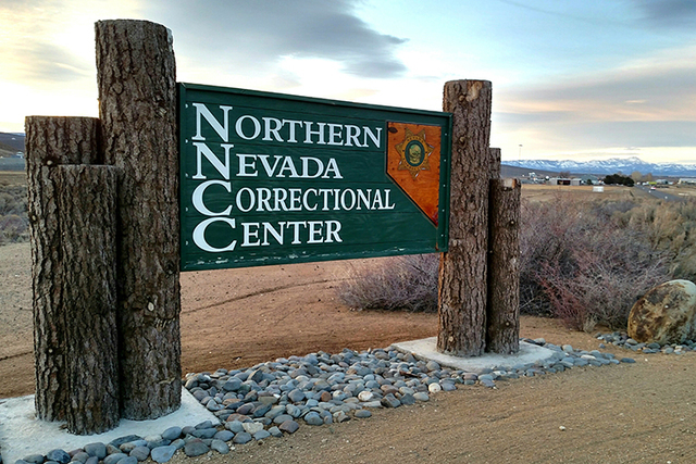 The sign near the Northern Nevada Correctional Center. Ricardo Valencia walked away from the Stewart Conservation Camp, which is next to the Correction Center. (Courtesy, Nevada Department of Corr ...