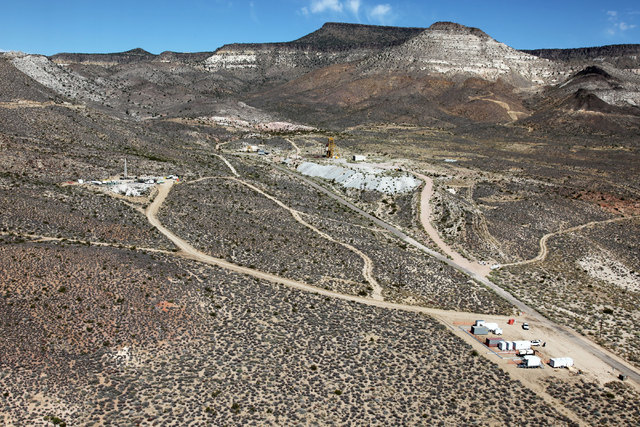 The area where a below-ground arms control verification experiment was conducted May 21, 2015, in the northeast section of the Nevada National Security Site is shown in this photo from 2010. (Cour ...