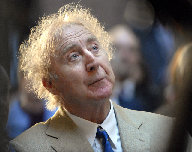 Actor Gene Wilder listens as he is introduced to receive the Governor's Awards for Excellence in Culture and Tourism at the Legislative Office Building in Hartford, Conn., April 9, 2008. Wilder, 8 ...