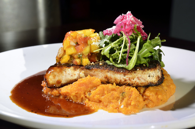 The grilled swordfish is shown at Olivia's Mexican Restaurant and Bar in the Boulevard Mall at 3554 S. Maryland Parkway in Las Vegas on Friday, July 29, 2016. Bill Hughes/Las Vegas Review-Journal
