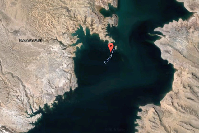 Overton Arm of Lake Mead (Google Maps)