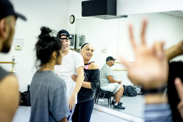 Parris Goebel, an award winning New Zealand-born choreographer, dancer, and now singer, creates choreography on the spot during practice at Backstage Dance Studio in Las Vegas Friday afternoon Aug ...