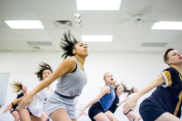 Dancers in a New Zeland dance crew created by Parris Goebel, an award winning New Zealand-born choreographer, dancer, and now singer, practice their routine for Hip Hop Internatioal at Backstage D ...