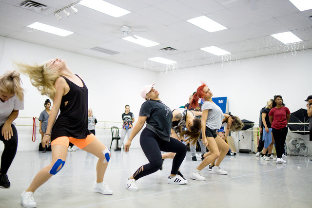 Parris Goebel, award winning New Zealand-born choreographer, dancer and singer, leads practice at Backstage Dance Studio in Las Vegas Friday afternoon Aug. 5,2016. Elizabeth Brumley/Las Vegas Revi ...