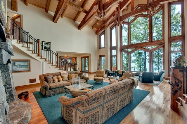 The 13-acre property known as the Pines has 13,000 square feet with five bedrooms, a guest house, a caretaker house, lake frontage, a boathouse, and three-hole golf course, said Cheryl Luther, a R ...