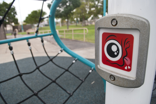 The new Biba smart playground, that incorporates a Pokemon Go type app, awaits use at Burkholder Park in Henderson on Friday, Aug. 19, 2016. Daniel Clark/Las Vegas Review-Journal Follow @DanJClark ...