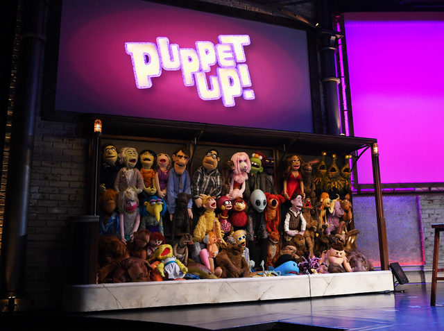 """Puppet Up!"" cast of more than 60 puppets (Denise Truscello)"