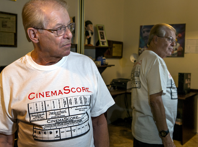 CinemaScore founder Ed Mintz poses for a photo in his Las Vegas home on Wednesday, Aug. 24, 2016. Jeff Scheid/Las Vegas Review-Journal Follow @jeffscheid