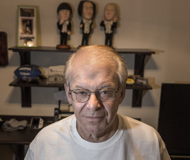 CinemaScore founder Ed Mintz poses for a photo in his Las Vegas home on Wednesday, Aug. 24, 2016. Jeff Scheid/Las Vegas Review-Journal Follow @jeffscheid