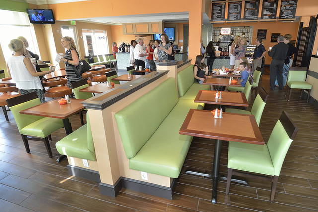 The interior of Rachel's Kitchen is shown during a grand opening of the company's latest franchise at the Hilton Garden Inn at 1340 W. Warm Springs Road in Henderson on Monday, Aug. 22, 2016.  ...