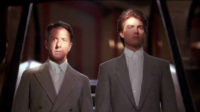 """Raymond Babbitt (Dustin Hoffman) and brother Charlie (Tom Cruise) prepare to hit the Caesars Palace casino in 1988's best picture Oscar-winner, """"Rain Man."""" (United Artists)"""