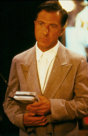"Austistic Raymond Babbitt (Dustin Hoffman) discovers ""very twinkly, very sparkly"" Las Vegas in 1988's Oscar-winning ""Rain Man."" (United Artists)"