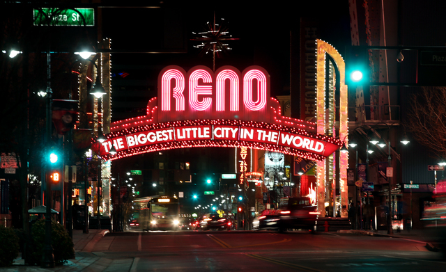The Reno Arch, seen in 2014. (Cathleen Allison/Las Vegas Review-Journal)