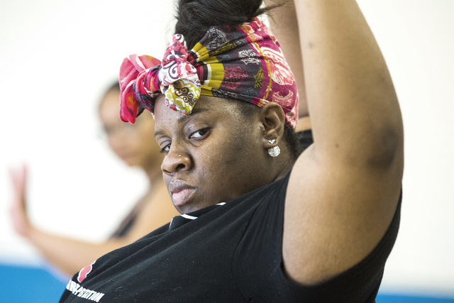 Aleisha Hall participates in a contemporary dance class that's part of the R.A.G.E. (Reaching Above Greater Expectations) program founded by former Cirque du Soleil dancer Tyrell Rolle. Jeff Schei ...