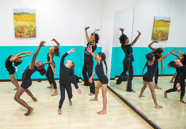 Kids express their R.A.G.E. -- Reaching Above Greater Expectations -- at Studio 305, which Rolle Project founder Tyrell Rolle just opened in North Las Vegas. Jeff Scheid/Las Vegas Review-Journal F ...
