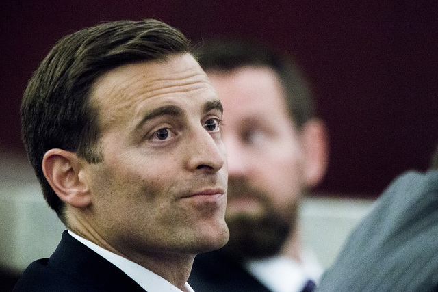 Nevada Attorney General Adam Laxalt, listens to oral arguments involving school choice Friday, July 29, 2016, in front of Nevada Supreme Court. (Jeff Scheid/Las Vegas Review-Journal) Follow @jeffs ...