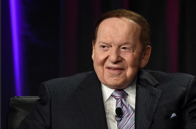 Las Vegas Sands Corp. Chairman and CEO Sheldon Adelson speaks at the Global Gaming Expo (G2E) 2014 at the Venetian Las Vegas on Oct. 1, 2014, in Las Vegas, Nevada. (Ethan Miller/Getty Images)