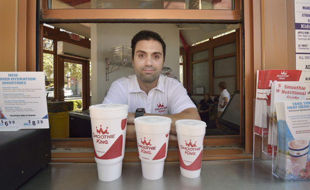 Shahdad Kelishadi, franchisee with Smoothie King, is shown at his store in Town Square at 6649 Las Vegas Blvd. South in Las Vegas on Tuesday, Aug. 16, 2016. Bill Hughes/Las Vegas Review-Journal