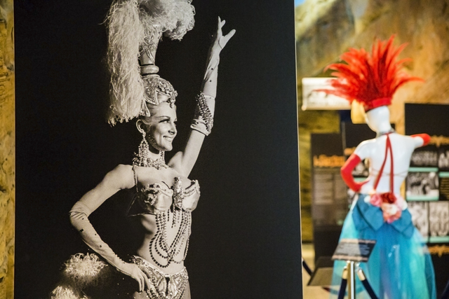 """Les Folies Bergere: Entertaining Las Vegas One Rhinestone at a Time"" continues through Jan. 15 at the Nevada State Museum at Las Vegas Springs Preserve on Tuesday, August 2, 2016, in Las Vegas. ( ..."