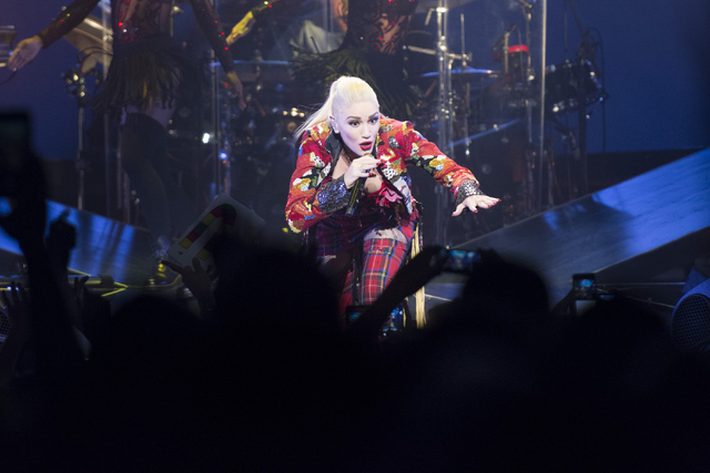 "Gwen Stefani performs during her ""This is What the Truth Feels Like"" tour at T-Mobile Arena in Las Vegas Friday, Aug. 19, 2016.  (Jason Ogulnik/Las Vegas Review-Journal)"