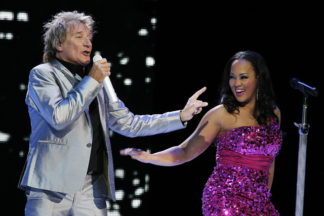 Rod Stewart performs in the Colosseum at Caesars Palace in Las Vegas on Nov. 6, 2013. (Las Vegas Review-Journal file)