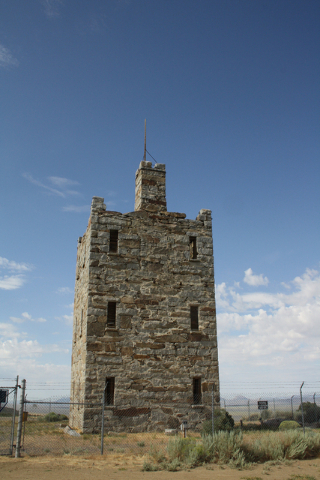 Stokes Castle, built of hand-hewn native granite, was finished in 1897 and can be found just minutes from the town of Austin in central Nevada. Deborah Wall/Special to View