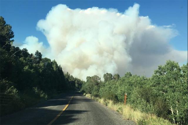 Strawberry Fire near Great Basin National Park (Matt Jensson/Facebook)