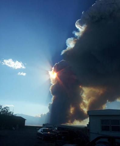 Strawberry Fire near Great Basin National Park. (Sarah Bennett/Facebook)