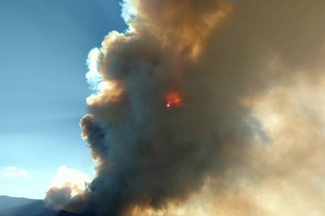 Strawberry Fire near Great Basin National Park. (Tana Terry Baker/Facebook)