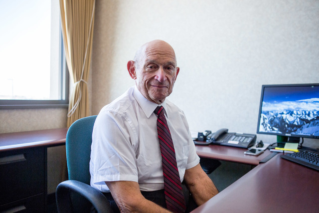 Michael Strembitsky is the longtime Canadian educator who has developed a reorganization plan for Clark County School District. (Elizabeth Brumley/Las Vegas Review-Journal Follow @Elipagephoto)