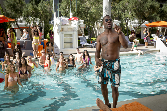 """Caesars Palace's Garden of the Gods pool shares the screen with Kevin Hart in the ) in 2014's """"Think Like a Man Too."""" (Screen Gems)"""