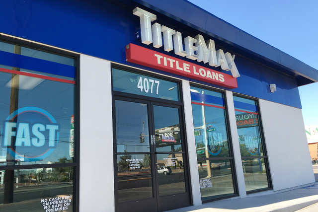 TitleMax, with more than 40 stores in Nevada, mostly in Las Vegas, has been ordered to void one year's worth of auto title contracts with a grace period payment deferment. The ruling was issued on ...
