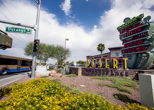Desert Marketplace located on the southeast corner of Warm Springs Road and Durango Drive is seen Thursday, Aug. 18, 2016. Jeff Scheid/Las Vegas Review-Journal Follow @jeffscheid