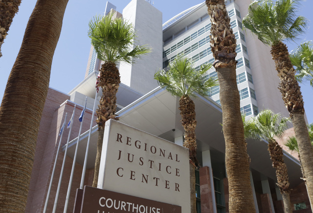 The Regional Justice Center on 200 Lewis Ave., is shown on Tuesday, Aug. 16, 2016, in Las Vegas. (Bizuayehu Tesfaye/Las Vegas Review-Journal) Follow @bizutesfaye