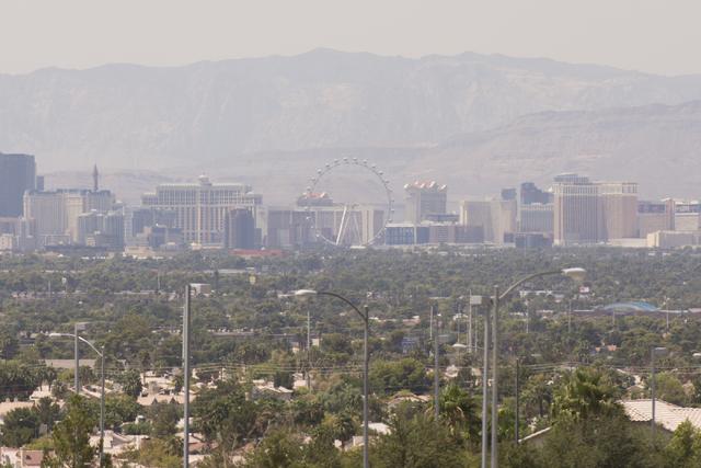 The Las Vegas skyline is seen from Hollywood Boulevard near Charleston Boulevard in Las Vegas Saturday, Aug. 20, 2016. Jason Ogulnik/Las Vegas Review-Journal