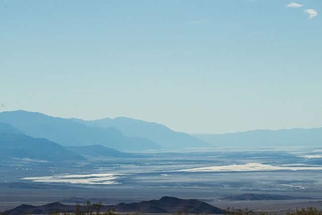 A view of Death Valley National Park is shown looking south on Thursday, Oct. 22, 2015. (Chase Stevens/Las Vegas Review-Journal)