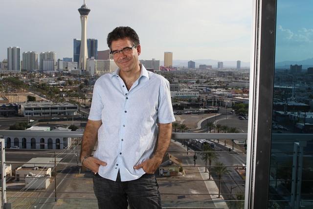 Reporter John Katsilometes poses for a photo at his apartment in downtown Las Vegas on Tuesday, August 2, 2016. (Richard Brian/Las Vegas Review-Journal) Follow @vegasphotograph