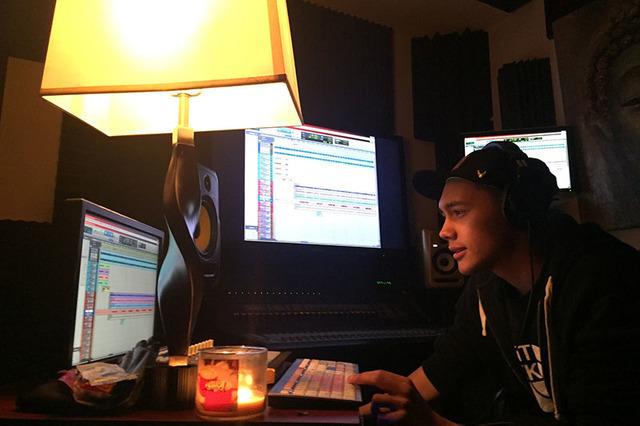 Alejandro Rodriguez-Dawson is seen at a local recording studio in January 2016. (Alejandro Rodriguez-Dawson)