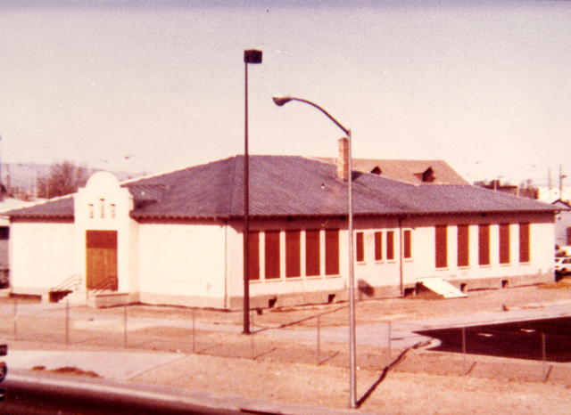 Historic shot of the Westside School in Las Vegas. (Courtesy City of Las Vegas)