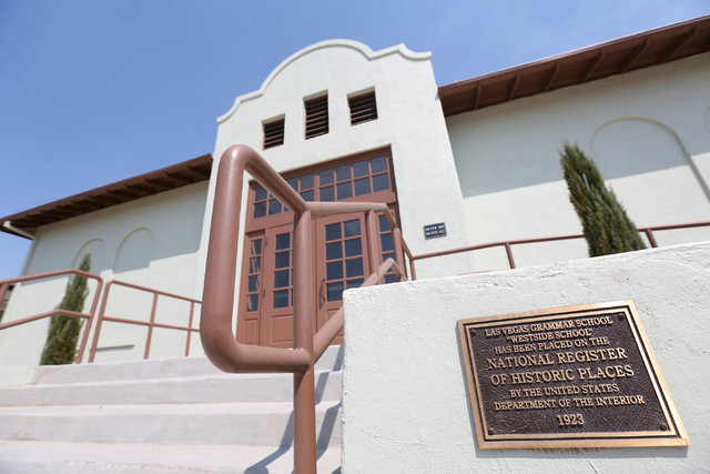 The renovated West Side School, shown in Las Vegas, on Thursday, Aug. 25, 2016, will host a rededication ceremony for the buildings on Saturday Aug. 27, at 9:30 a.m. Brett Le Blanc/Las Vegas Revie ...