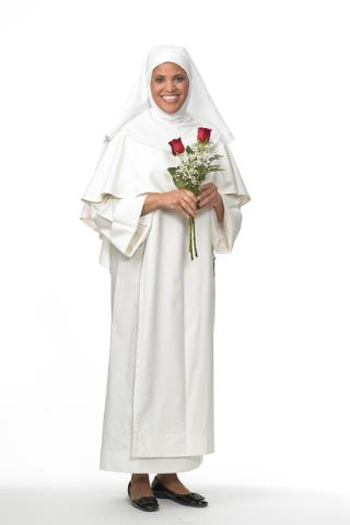Sister Xiomara Mendez-Hernandez is shown dressed as Patron saint of Peru Santa Rosa De Lima. She performs a one-woman show about the saint. Photo/Greg Preston, Sampsel & Preston Photography