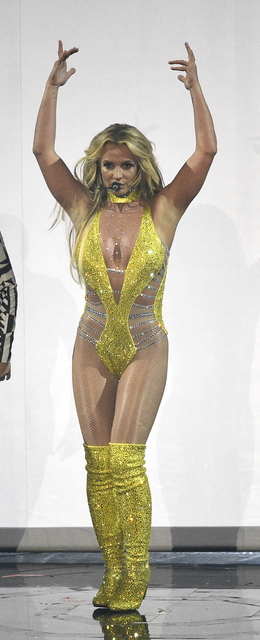 Britney Spears performs at the MTV Video Music Awards at Madison Square Garden on Sunday, Aug. 28, 2016, in New York. (Chris Pizzello/Invision/AP)