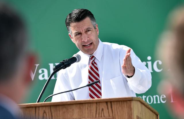 Nevada Gov. Brian Sandoval (David Becker/Las Vegas Review-Journal Follow @davidjaybecker)