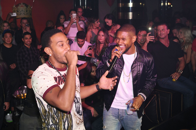 Ludacris and Usher perform Saturday at 1 Oak nightclub. (Denise Truscello/WireImage)